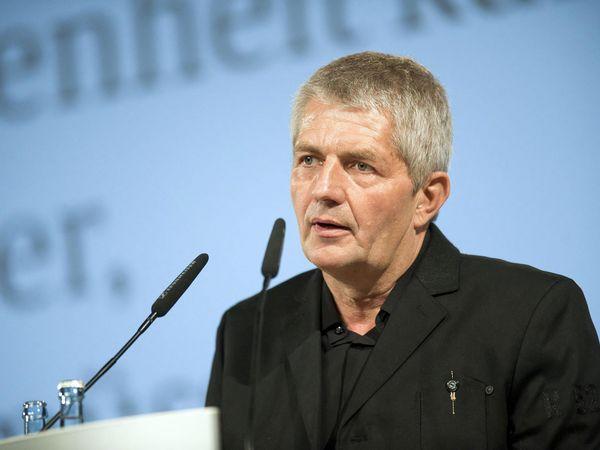 Roland Jahn bei seiner Antrittsrede am 14. März 2011 im Deutschen Historischen Museum Berlin