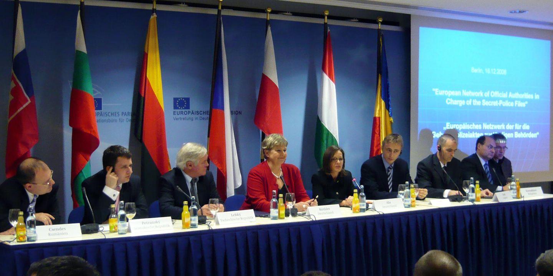 Pressekonferenz zur Gründung des Europäischen Netzwerks, Quelle:                 BStU