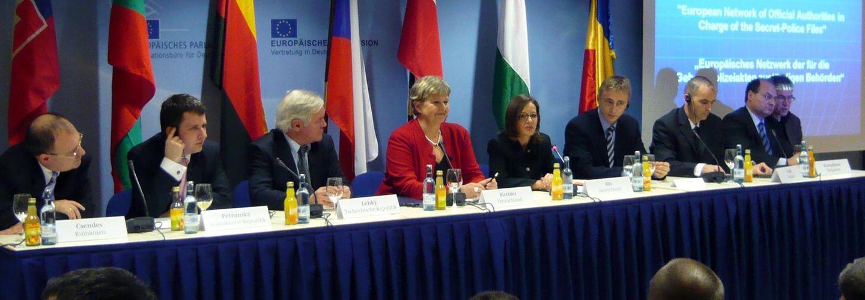 Pressekonferenz zur Gründung des Europäischen Netzwerks