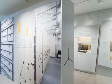 The exhibition shows the collection of information violating human rights.