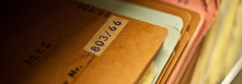 Akten im Stasi-Unterlagen-Archiv