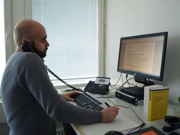 Ausbildung zum Kaufmann für Büro-Management.