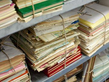 Aktenbündel im Stasi-Unterlagen-Archiv Berlin