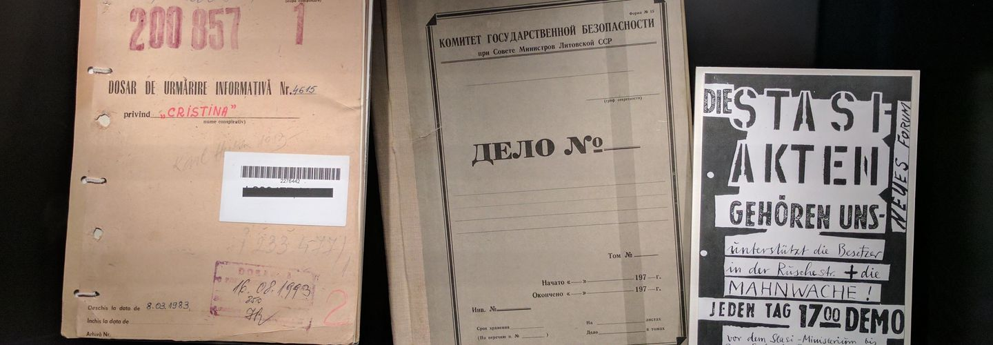 Secret police records from different Eastern European archives in the House of European History in Brussels.