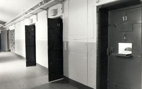 Zellengang in der ehemaligen Untersuchungshaftanstalt der Stasi in Gera.