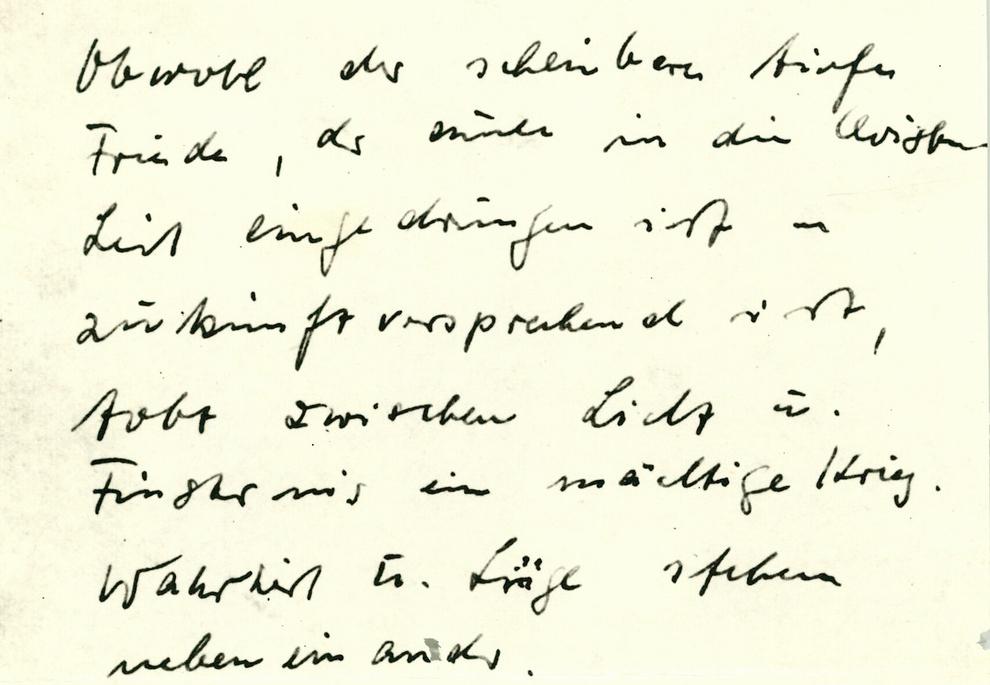 Handschriftlicher Brief des Pfarrers Oskar Brüsewitz zu seinem Suizid.