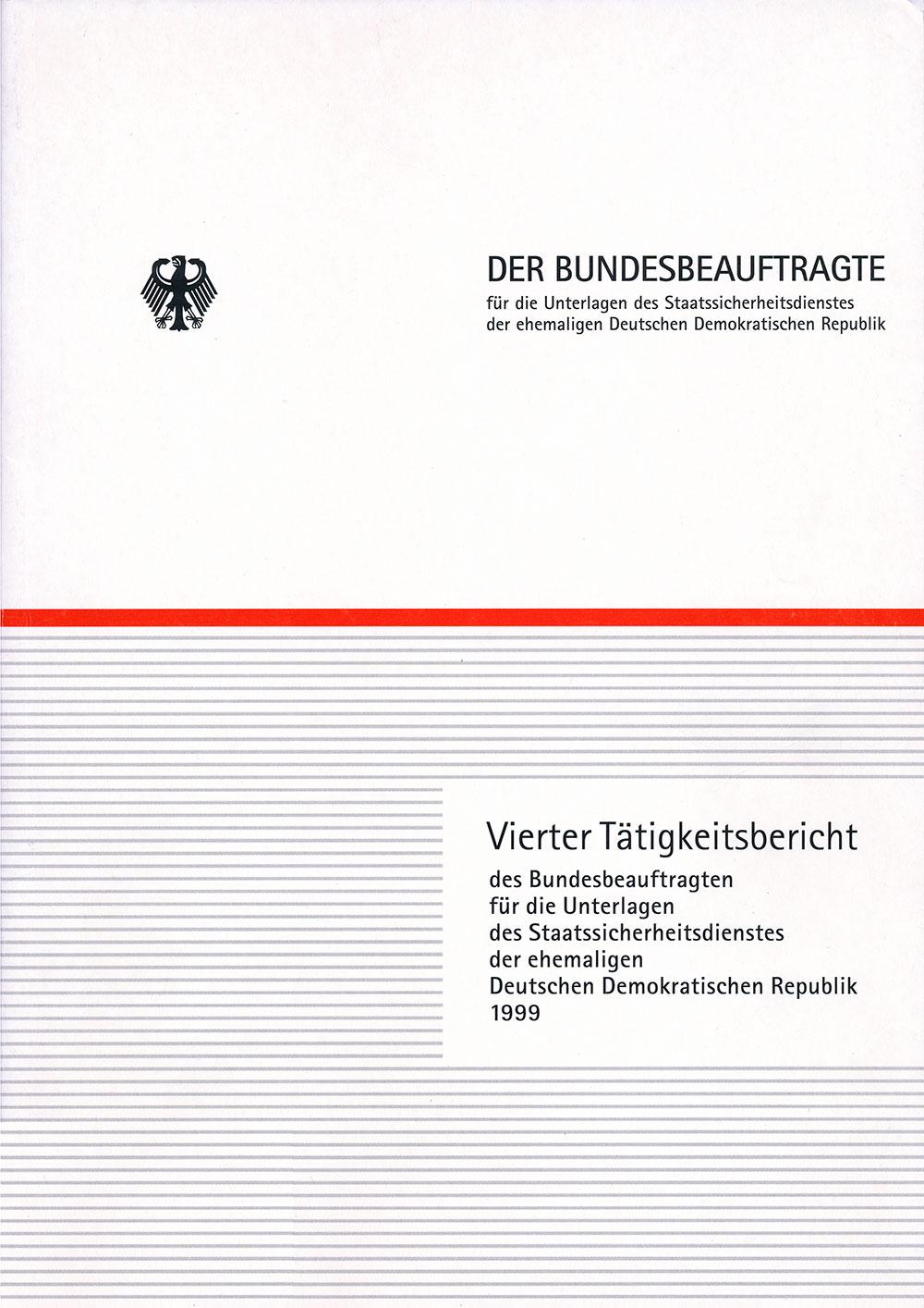 Titelblatt des vierten Tätigkeitsberichts des BStU