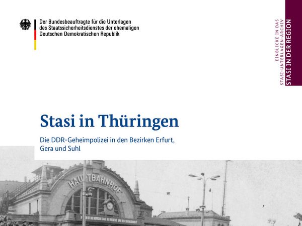 Cover der Publikation 'Stasi in Thüringen'