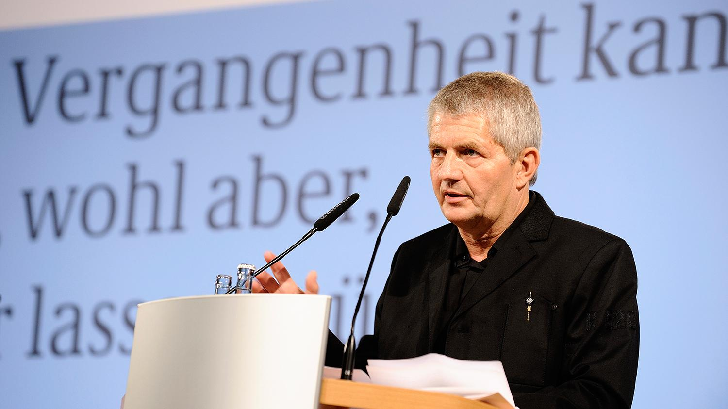Roland Jahn bei seiner Antrittsrede am 14. März 2011 im Deutschen Historischen Museum Berlin