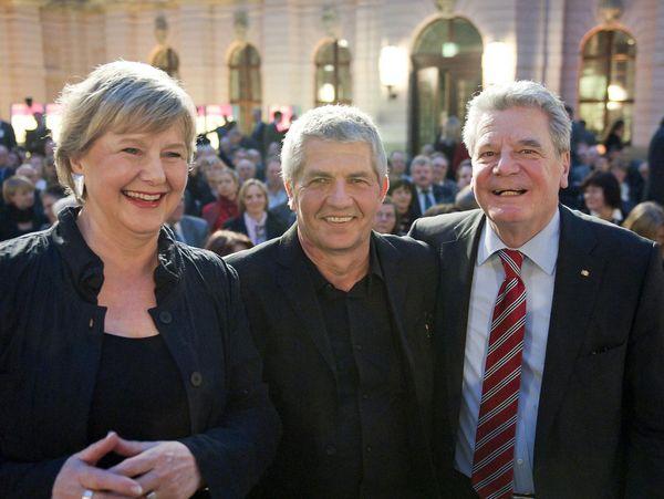 Roland Jahn and his predecessors Marianne Birthler and Joachim Gauck,  March 2011.