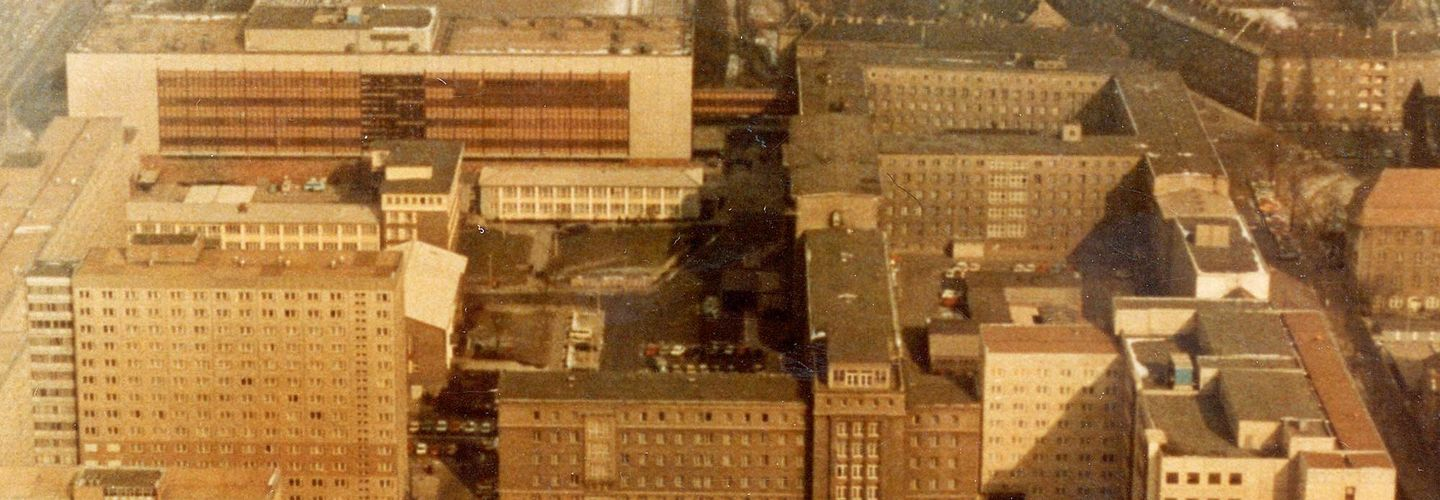 Arial view of Berlin headquarters.