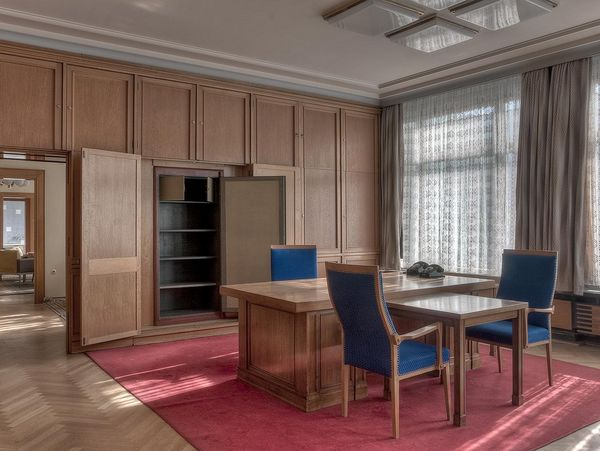 Visitors to the Stasi Museum can explore the former offices of Stasi Minister Erich Mielke, preserved in their original form.