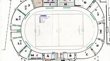 Übersichtsplan zum Einsatz von Sicherheitskräften im Dynamo-Stadion