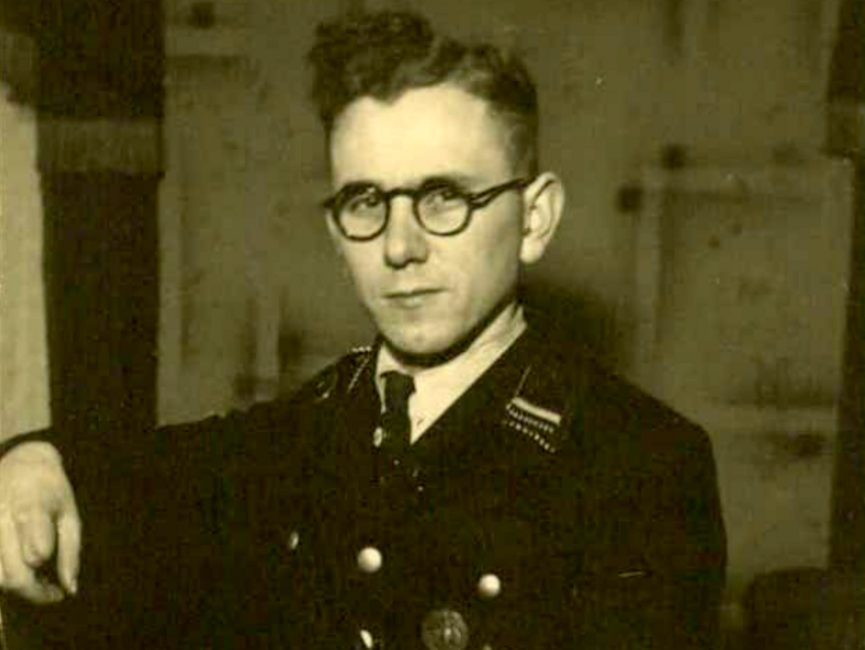 Paul Riedel in SS-Uniform