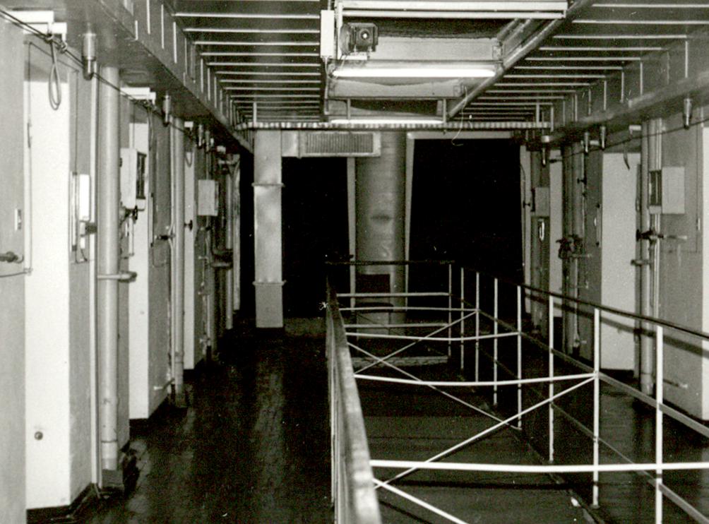 Im Zellenblock der Stasi-U-Haftanstalt 'Roter Ochse'.