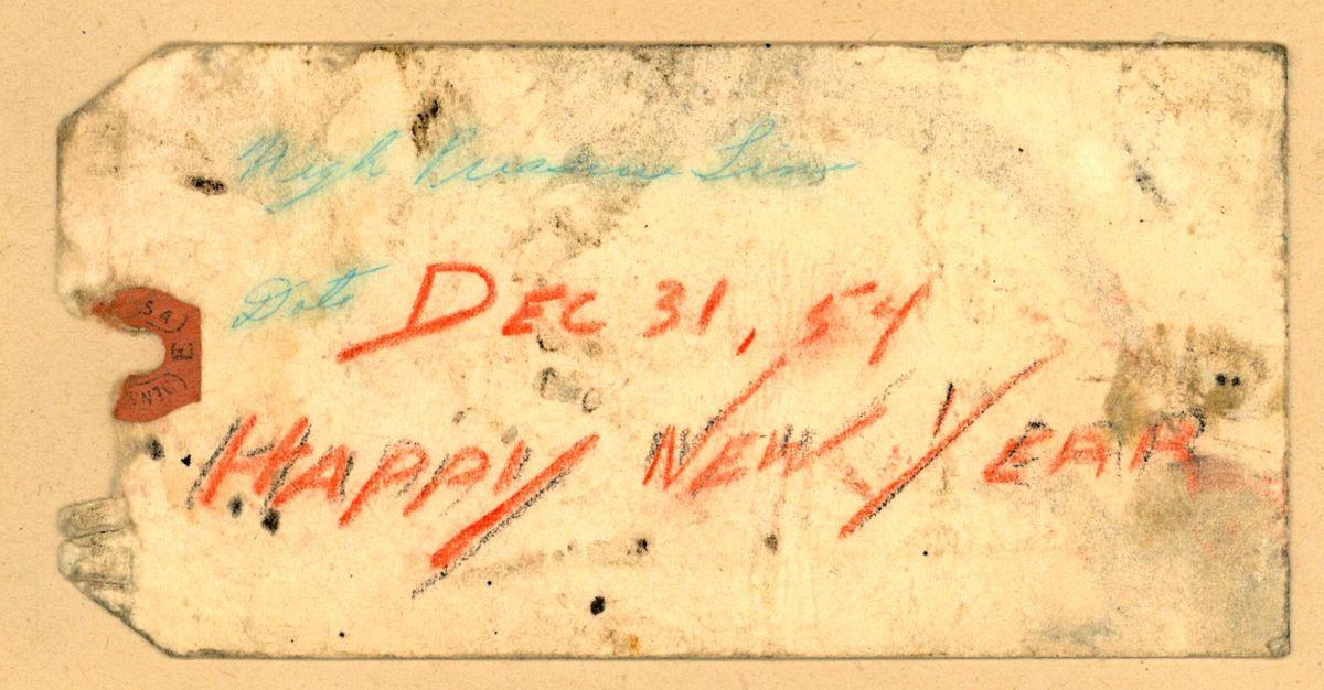 [Handschriftliche Beschriftung: High [unleserlich] Line Date Sec 31, 54 Happy New Year]