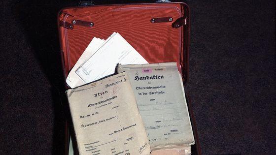 Mielkes Roter Koffer zum Zeitpunkt der Beschlagnahmung