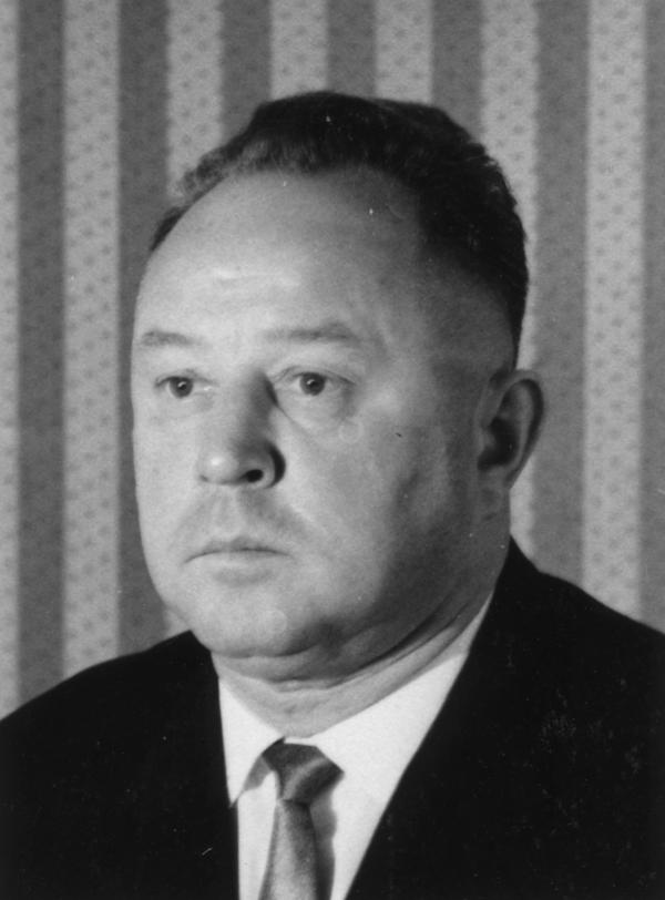 Schwarz-Weiß-Aufnahme von Erich Mielke