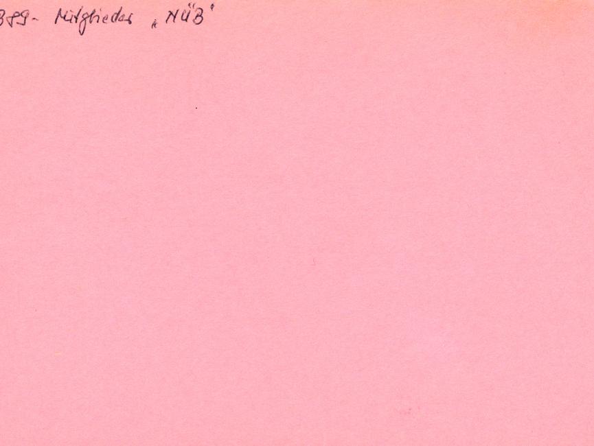 Eine rosa Karteikarte des Typs 'Formblatt 401', hier verwendet als VSH der AKG der Hauptabteilung XXII