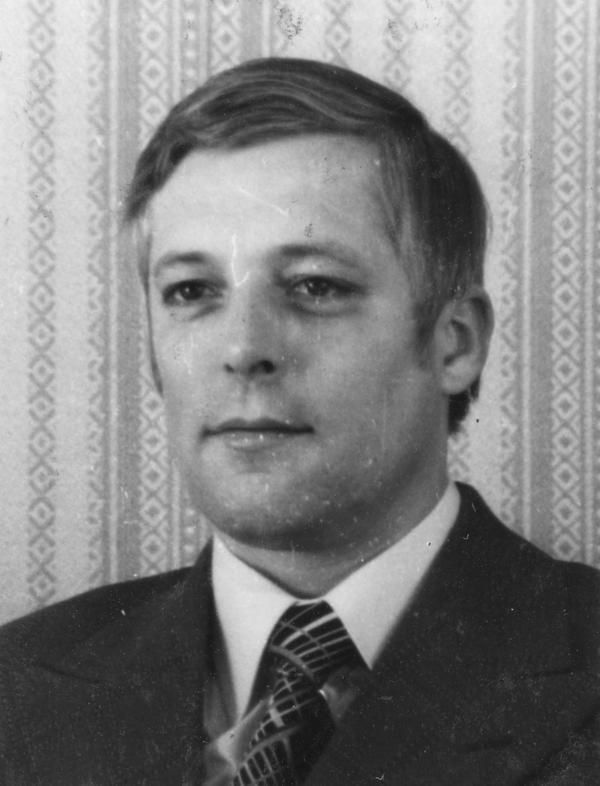 Foto von Horst Böhm von seiner Kaderkarteikarte.