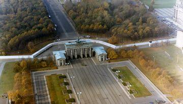 Grenzanlagen am Brandenburger Tor Ende der 80er Jahre