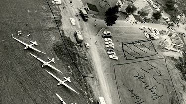 Ein Luftbild zeigt die einzelnen Sicherheitszonen des Flugplatzes Suhl-Goldlauter