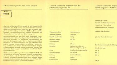 Werbebroschüre der Stasi zum Scharfschützengewehr 82 (SSG 82)