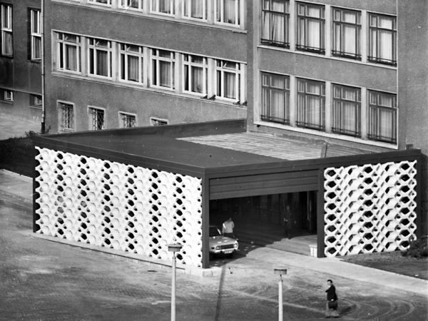 Eingangsbereichzu 'Haus 1' der Stasi-Zentrale, dem Dienstsitz von Minister Erich Mielke