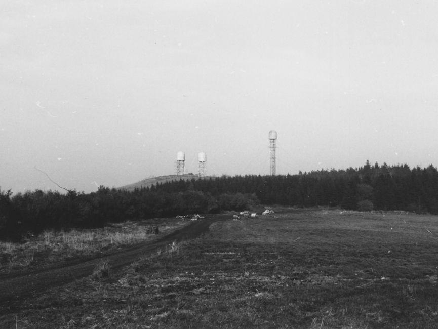Die drei großen Lauschanlagen am Objekt 'Blitz' (nach 1975).