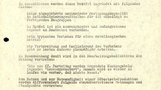 Information über die Fertigung von Edelstahlbestecken im VEB Stahl- und Walzwerk Riesa des VEB Rohrkombinat