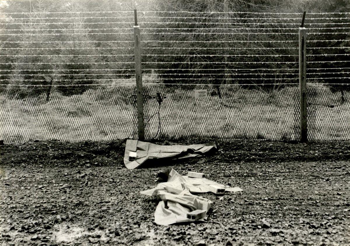 Foto der Stasi von dem Ort, an dem Heiko Runge und Uwe Fleischhauer versuchten, die Grenze zur Bundesrepublik zu überwinden.